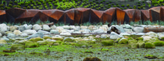 Paul Sangha has created METAMORPHOUS, a corten steel sculpture designed to provide a solution to foreshore erosion for a waterfront property in Vancouver