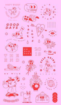 Character Flash - Character Flash on Behance - Mädchen Tattoo, Poke Tattoo, Tattoo Drawings, Hand Poked Tattoo, Tattoo Sketches, Flash Art Tattoos, Mini Tattoos, Cute Tattoos, Small Tattoos