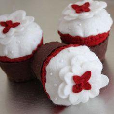 Felt Cupcake Crafts | felt red velvet cupcakes