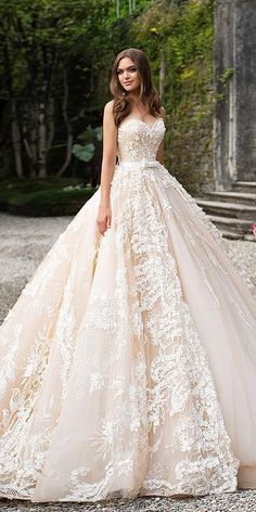 27 Fantasy Wedding Dresses From Top Europe Designers - Wedding Gowns Platform Fantasy Wedding Dresses, Best Wedding Dresses, Designer Wedding Dresses, Bridal Dresses, Ball Gowns Fantasy, Wedding Dresses With Ruffles, Disney Inspired Wedding Dresses, Most Expensive Wedding Dress, Bridesmaid Dresses