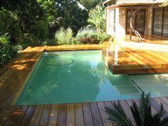 Timber Decking next to pool