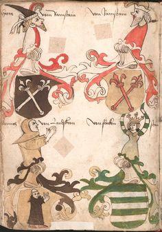Wernigeroder (Schaffhausensches) Wappenbuch Süddeutschland, 4. Viertel 15. Jh. Cod.icon. 308 n  Folio 146v