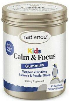Radiance Kids Calm & Focus Gummies (45) Blackberry Magnesium & L- Theanine   eBay Children's Vitamins, Blackberry, Sugar Free, Calm, Kids, Ebay, Food, Young Children, Boys