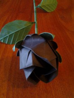 Origami Black Rose