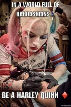 Since when is Harley Quinn a Tattoo Artist --Be your own Whyld Girl with a wicked tee today! http://whyldgirl.com/tshirts