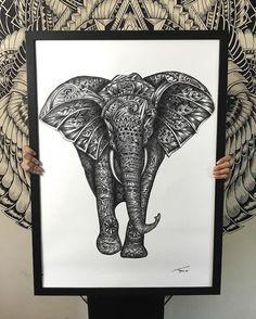 Majestic Animal Illustrations Hand Drawn with Intricately Hypnotizing Patterns - My Modern Met