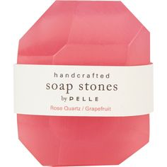 Pelle Rose Quartz/Grapefruit Nugget Soap - Small ($5) ❤ liked on Polyvore featuring beauty products, bath & body products, body cleansers, fillers, beauty, makeup, pink fillers, pink and magazine