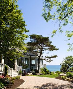 Houzz Tour: Scandinavian design in traditional Massachusetts home -  exterior by Siemasko + Verbridge
