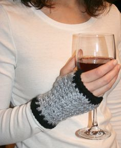 Crocheted Fingerless Gloves Sports Fan Team Colors by HookEmUp