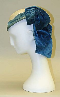 Promenade hat Date: 1865–70 Culture: French Medium: wool, silk Dimensions: Length: 8 1/2 in. (21.6 cm) Credit Line: Gift of Mrs. Benjamin G. Lathrop, 1957