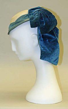 Hat, Promenade    Date:      1865–70  Culture:      French  Medium:      wool, silk  Dimensions:      Length: 8 1/2 in. (21.6 cm)