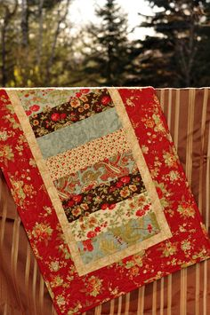 Table Runner Christmas holiday Patchwork   by Coudsdonc on Etsy, $48.00