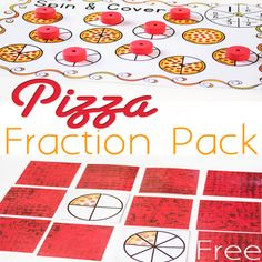 This free pizza fraction printable is a great way to have fun and learn about equivalent fractions. Kids will compare halves, fourths, and sixths with three free printable fraction activities.