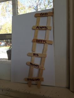 jacob's ladder craft | Jacob's ladder preschool sunday school lesson | gracefullhome