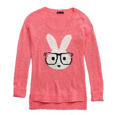 intarsia sweaters women | Takeout Juniors Intarsia Bunny Sweater: Shopko