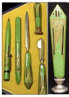 Art Deco French Bakelite Desk Set ca.1930