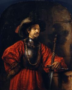 Portrait of a man in military costume Rembrandt Harmensz. van Rijn; painter; attributed to; Dutch artist, 1606-1669