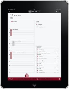 Muji Calendar free App for iPad