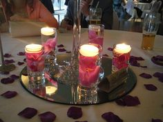 lovely centre pieces from the wedding yesterday