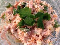 Salmon Fiesta Salad....A great, easy, clean recipe to use left over salmon!!