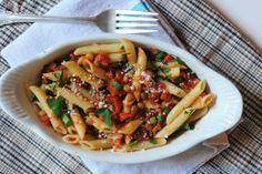 Lentil Bolognese is a great alternative to a traditional Bolognese | @Susan Caron Salzman | www.theurbanbaker.com