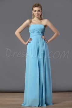 Dresswe.com SUPPLIES Delicated Ruched A-Line Strapless Floor-Length Bridesmaid Dress Bridesmaid Dresses 2014