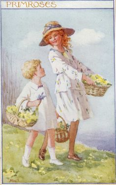 Margaret Tarrant -This series of postcards was also published as a Birthday Book.