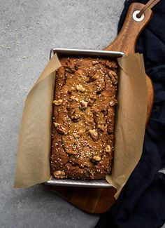 Gluten-Free Tahini Banana Bread provides a favorite with added nutty flavor and nutritional benefits. Gluten-free, dairy-free, and refined sugar-free.