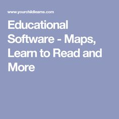 Educational Software - Maps, Learn to Read and More