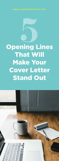 Spend your next 2 minutes reading how you can make your cover letter stand out and excite the recruiter. Here are five ideas to get a hiring managers attention from the first line of your cover letter. Basic Cover Letter, Cover Letter Tips, Cover Letter For Resume, Cover Letter Template, Great Cover Letters, Job Interview Tips, Job Interview Questions, Job Interviews, Interview Preparation