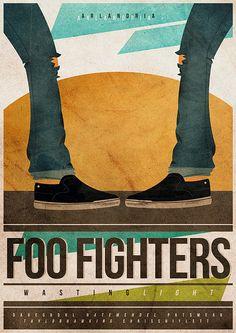 Foo Fighters - gig poster - @cesarvalenca