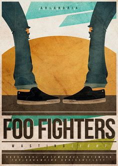Poster - Foo Fighters - Arlandria by @cesarvalenca