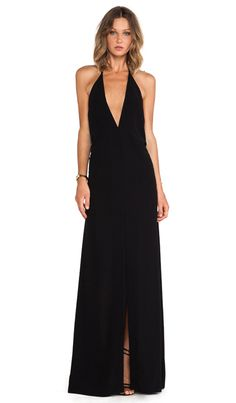 SOLACE London Piaggi Maxi Dress in Black