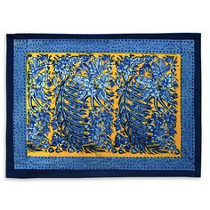 Bougainvillea Yellow & Blue Placemat by Couleur Nature
