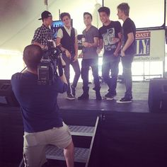 Ha Cole's face :D.@im5band | #Press #spacecoastspringfair