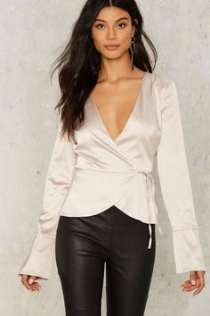 Frosting Satin Blouse
