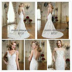 Gorgeous wedding dress by Justin Alexander Bridal.