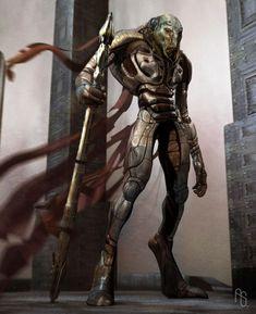Alien Warrior by aaronsimscompany.deviantart.com on @deviantART