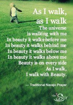 Love this Traditional Navajo Prayer!