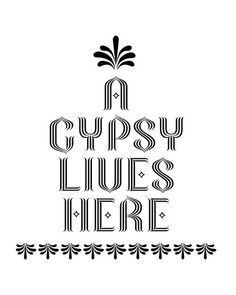 Cute as a cross stitch for the gypsies in my life
