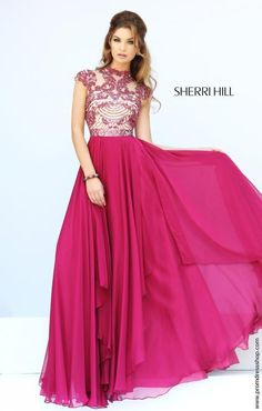Sherri Hill Beaded Top Prom Dress 1933