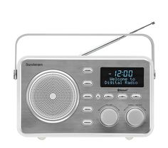 Buy SANDSTROM SDABXRL13 Portable DAB Bluetooth Clock Radio – Silver | Free Delivery | Currys