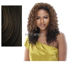 Equal (SNG) Drawstring Full Cap Only Girl - Color P4/27 - Synthetic (Curling Iron Safe) Drawstring Half Wig