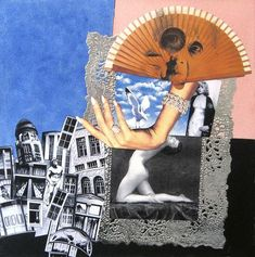 Hannah Höch collage and acrylic 15 x 15