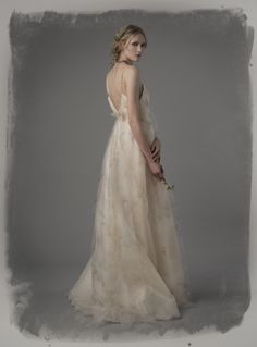 #Wedding dress from the Elizabeth Fillmore Spring 2015 collection. #bridal