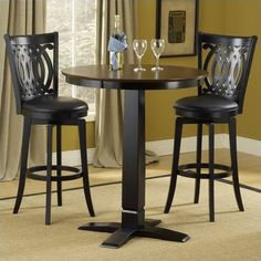 Hillsdale Dynamic Designs 5 Piece Pub Table and Stools Set ($752) ❤ liked on Polyvore featuring home, furniture, square pub table, square bar table, 5 pc pub set, square counter height table and hillsdale furniture