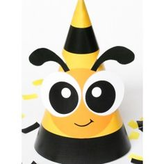 Honey Bumble Bee Baby Shower / First Birthday Party Hat Decoration