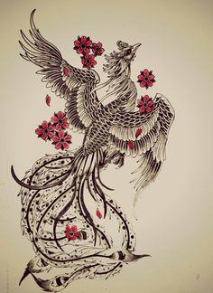29 Amazing Phoenix Tattoo Ideas You Will Enjoy - Phönix - Tattoo Future Tattoos, New Tattoos, Body Art Tattoos, Tattoo Drawings, Sleeve Tattoos, Drawings Of Feather, Tatoos, Tattoo Hip, Yakuza Tattoo
