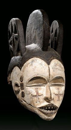 Africa | Mask from the Idoma people of Nigeria | Wood, kaolin and pigment