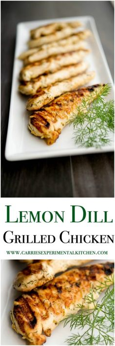 Lemon Dill Grilled Chicken is marinated in a brine of fresh lemon juice and dill weed; then grilled until juicy and delicious.